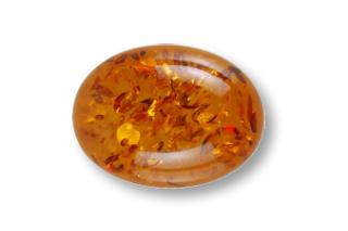 AMB274M - Amber 9x7 Oval Cabochon, 0.81 carat