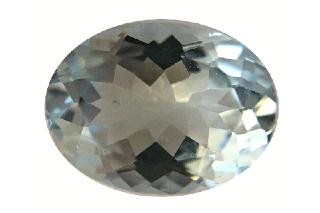 AQU222M - Aquamarine 8X6 Oval, 1.25 carats