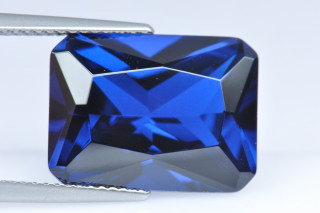 BSS02138M - Blue Spinel Synthetic 16x12mm Octagon Princess Cut