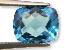 BLT01831MCT3_605 - Blue Topaz 12x10 Cushion Checkerboard, 6.05 carats
