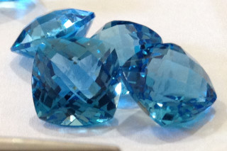 BLT01830FTC3 - Blue Topaz 10x10 Cushion Checkerboard, 5.45 carats