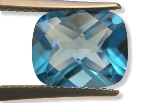 BLT01831MCT2_626 - Blue Topaz 12x10 Cushion Checkerboard, 6.26 carats