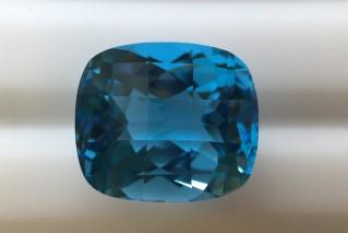 BLT01835FCT2 - Blue Topaz 14x12 Cushion Chess Top, 11.00 carats