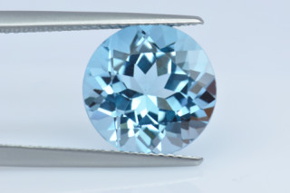 BLT134S10_2 - Blue Topaz 12.00mm Round, 7.28 carats