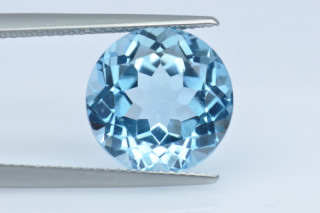 BLT134S10_4 - Blue Topaz 12.00mm Round, 8.15 carats