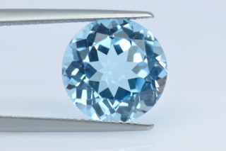BLT134S10_6 - Blue Topaz 12.00mm Round, 8.02 carats