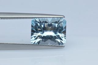 BLT427SC_3 - Blue Topaz 10x8 Octagon Concave Cut, 3.85 carats