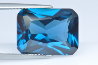 BLZ02138M - Blue Zircon Synthetic 16x12mm Octagon Princess Cut