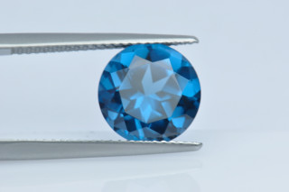 BLZ130M - Blue Zircon Synthetic 10.00 Round