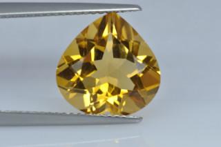CIT934M10_5 - Citrine 12x12 Heart, 4.90 carats