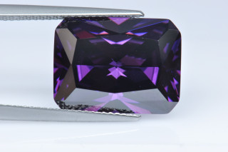CUZA02138M - Amethyst Cubic Zirconia 16x12mm Octagon Princess Cut
