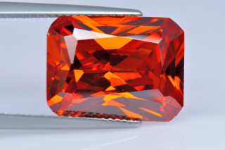 CUZO02138M - Orange Cubic Zirconia 16x12mm Octagon Princess Cut
