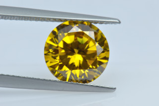 CUZY130M - Yellow  Cubic Zirconia 10.00mm Round