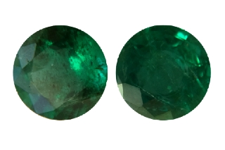 EME119_PAIR - Emerald 5.50mm Round Pair, 1.35 carats