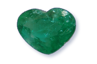 EME926M - Emerald  8x8 Heart, 1.17 carat