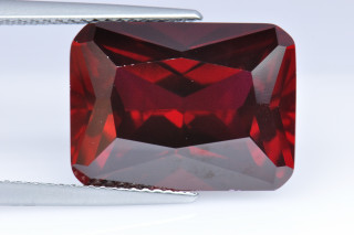 GAS02138M - Garnet Synthetic 16x12mm Octagon Princess Cut