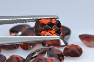 GAR01819MCT - Garnet 7x5 Cushion Checkerboard, 1.05 carats