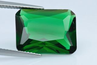 GRC02138M - Green Terbium Glass 16x12mm Octagon Princess Cut