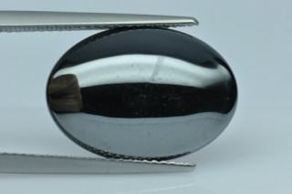 HEM290M - Hematite 18x13 Oval Cabochon, 12.50 carats