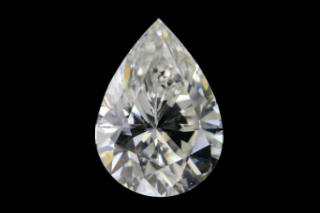 MOI517EF - Moissanite 6x4mm Pear, 0.40ct