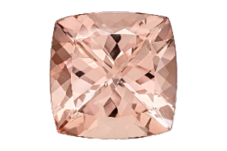 MOR01830F - Morganite 10x10 Cushion 4.15 carats