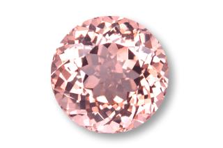 MOR121F - Morganite 6.00mm Round, 0.90 carats