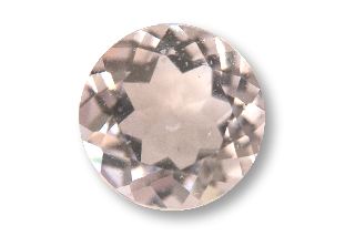 MOR126M - Morganite 8mm Round, 1.88 carats
