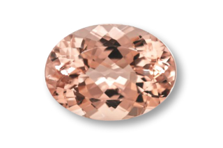 MOR222M - Morganite 8X6 Oval, 1.30 carats