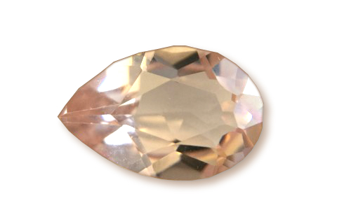 MOR523M - Morganite 9x6 Pear, 1.25 cts