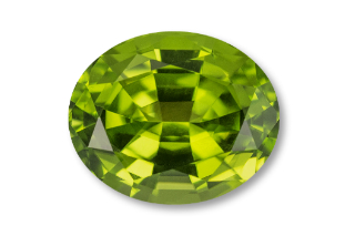 PER222M11 - Peridot 8x6 Oval, 1.37 carats