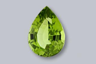PER526M - Peridot 10x7 Pear, 1.93 carats