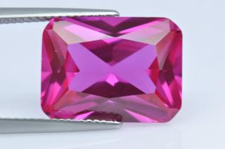 PTS02138M - Pink Tourmaline Synthetic 16x12mm Octagon Princess Cut