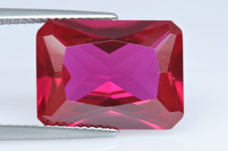 REC02138M - Ruby Synthetic 16x12mm Octagon Princess Cut