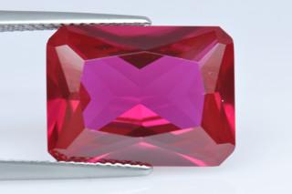 REC02138M - Ruby Synthetic 16x12mm Octagon Princess Cut
