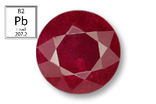 RPB124M - Ruby 7.00 Round (Fracture Filled Pb) 2.16 carats