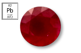 RPB126M - Ruby 8.00 Round (Fracture Filled Pb) 2.70 carats