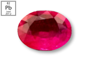 RPB224M - Ruby 9x7mm Oval (Fracture Filled Pb) 2.09 carats