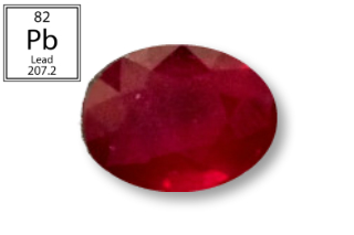 RPB227M - Ruby 10x8mm Oval (Fracture Filled Pb) 3.86 carats
