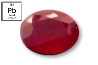 RPB228M - Ruby 11X9mm Oval (Fracture Filled Pb) 5.30 carats