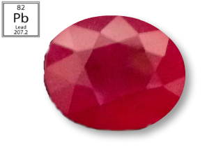 RPB231M - Ruby 12x10mm Oval (Fracture Filled Pb) 7.20 carats