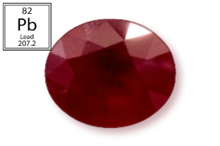 RPB235M - Ruby 14x12mm Oval (Fracture Filled Pb) 15.34 carats