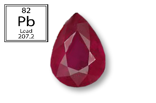 RPB519M - Ruby 7x5mm Pear (Fracture Filled Pb) 0.82 carats