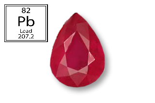 RPB522M - Ruby 8X6mm Pear (Fracture Filled Pb) 1.51 carats