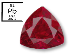 RPB724M - Ruby 7x7mm Trillion (Fracture Filled Pb) 1.53 carats