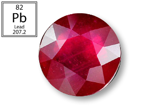 RPB121M_1 - Ruby 6.00 Round (Fracture Filled Pb) 1.23 carats