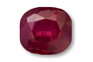 RUB01822F_208 - Ruby 8x6 Cushion, 2.08  carats