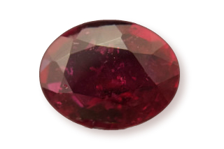 RUB222F_184 - Ruby 8x6 Oval  1.84 carats