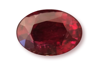 RUB222M12_190 - Ruby 8x6 Oval  1.90 carats