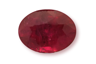 RUB222WFPLUS_148 - Ruby 8x6mm Oval  1.48 carats