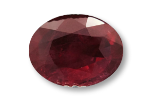 RUB224F2_203 - Ruby 9x7mm Oval  2.03 carats